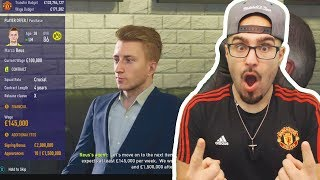 UNBELIEVABLE $70,000,000 SIGNINGS! FIFA 18 CAREER MODE MANCHESTER UNITED #01