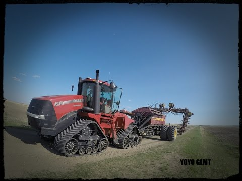 (GOPRO) Seeding Time 2016 in Farm Alberta Canada, CASE IH Quadtrac 550 and seed hawk