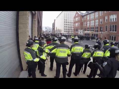 DC 14th and K st riot 1/20/2017