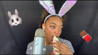 ASMR | White Chocolate Easter Bunny 🐰🐣✨ | Eating Sounds 😋