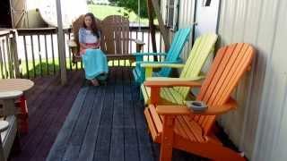 Amish Made Polywood Adirondack 4' Fan Back Porch Swing (ID: 15367)