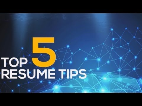 Top 5 Resume Tips 2014