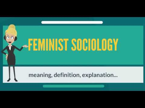 What is FEMINIST SOCIOLOGY? What does FEMINIST SOCIOLOGY mean? FEMINIST SOCIOLOGY meaning