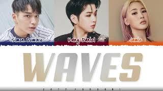 KANG DANIEL - 'WAVES' (feat Simon Dominic, Jamie) Lyrics [Color Coded_Han_Rom_Eng]