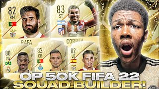 BEST FIFA 22 50K STARTER TEAM! | FIFA 22 50K SQUAD BUILDER!