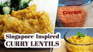Vegan Singapore-inspired Curry Lentils