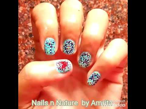 YOGA DAY Nail Art-2019/ How to do Yoga Dotticure Nails Design/ Yoga Nails