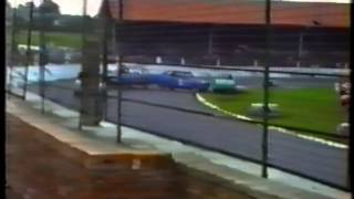 1989 Stock Car Banger Racing Cowdenbeath Racewall