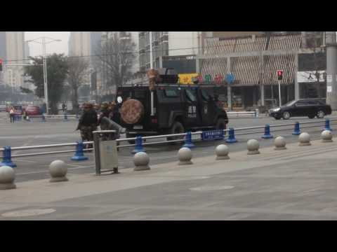 police vehicle, Pixian Chengdu China