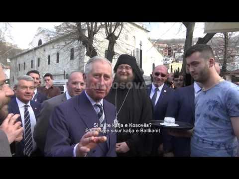 Charles krenar me Kosoven, pi kafe e ha fli ne Prizren - 19.03.2016 - Klan Kosova