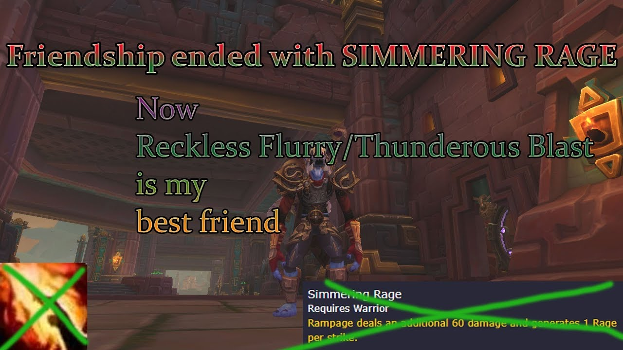 Fury Warrior Best In Slot