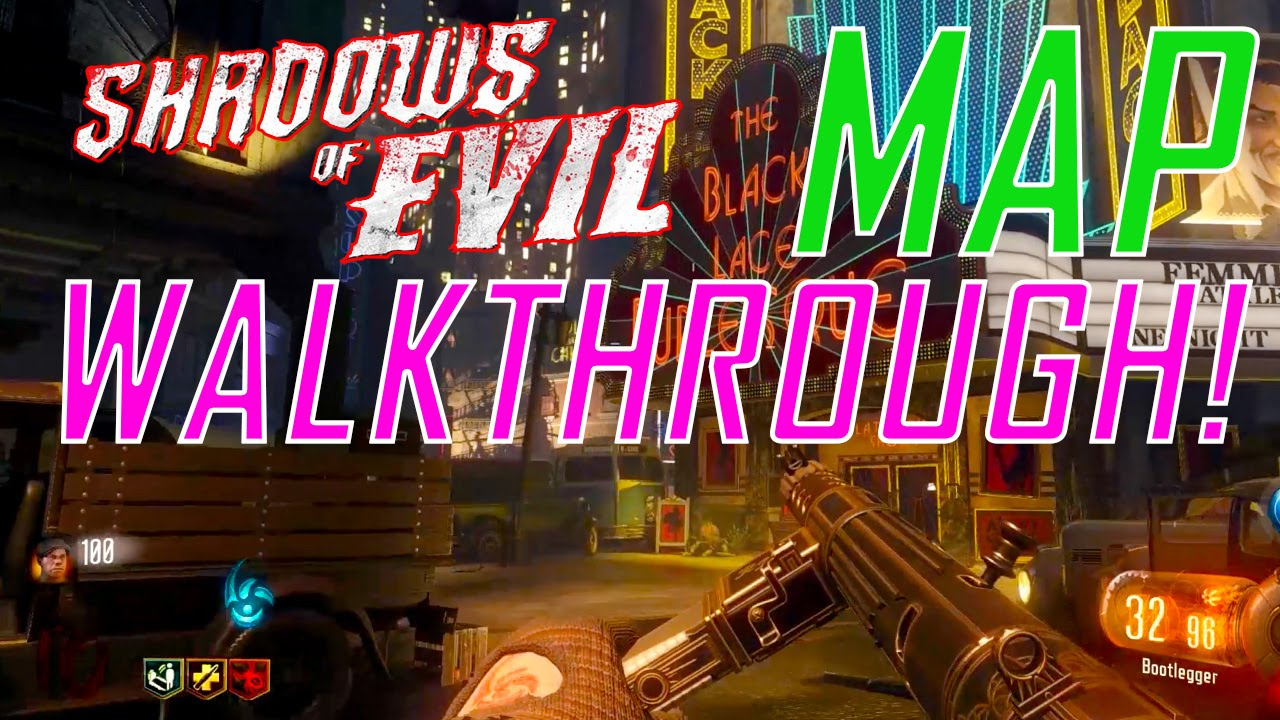 Black Ops 3 Zombies Shadows Of Evil Full Map Walkthrough Pack A