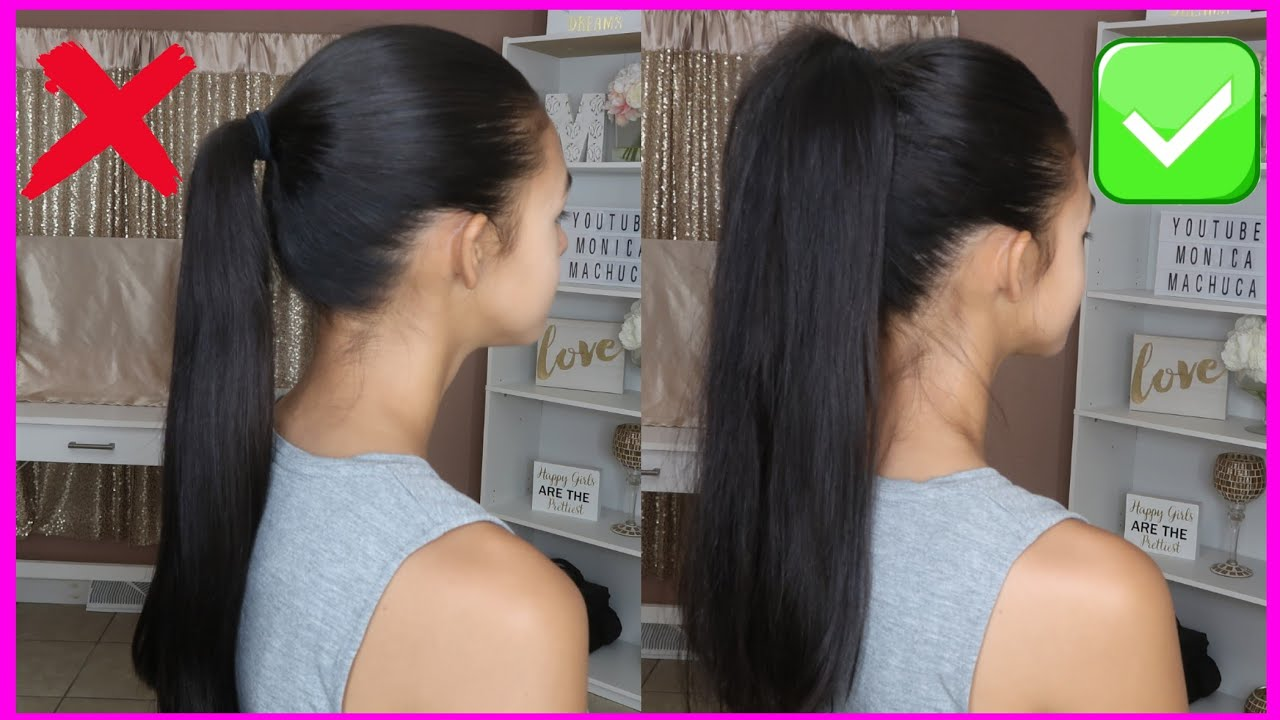 New High Ponytail Hairstyle For School College Work Prom Long Ponytail Trending Hairstyles Youtube