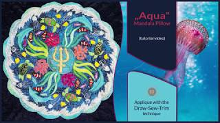 How it was made - Aqua Mandala Pillow (DST / Time-lapse)