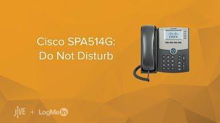 Cisco SPA514G: Do Not Disturb (DND)