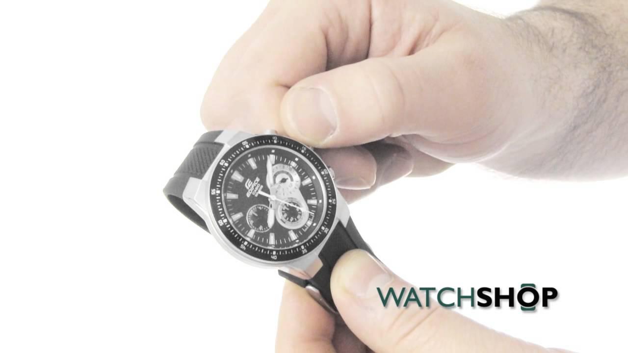 e9d04318c499 Casio Men s Edifice Chronograph Watch(EF-552-1AVEF) - YouTube