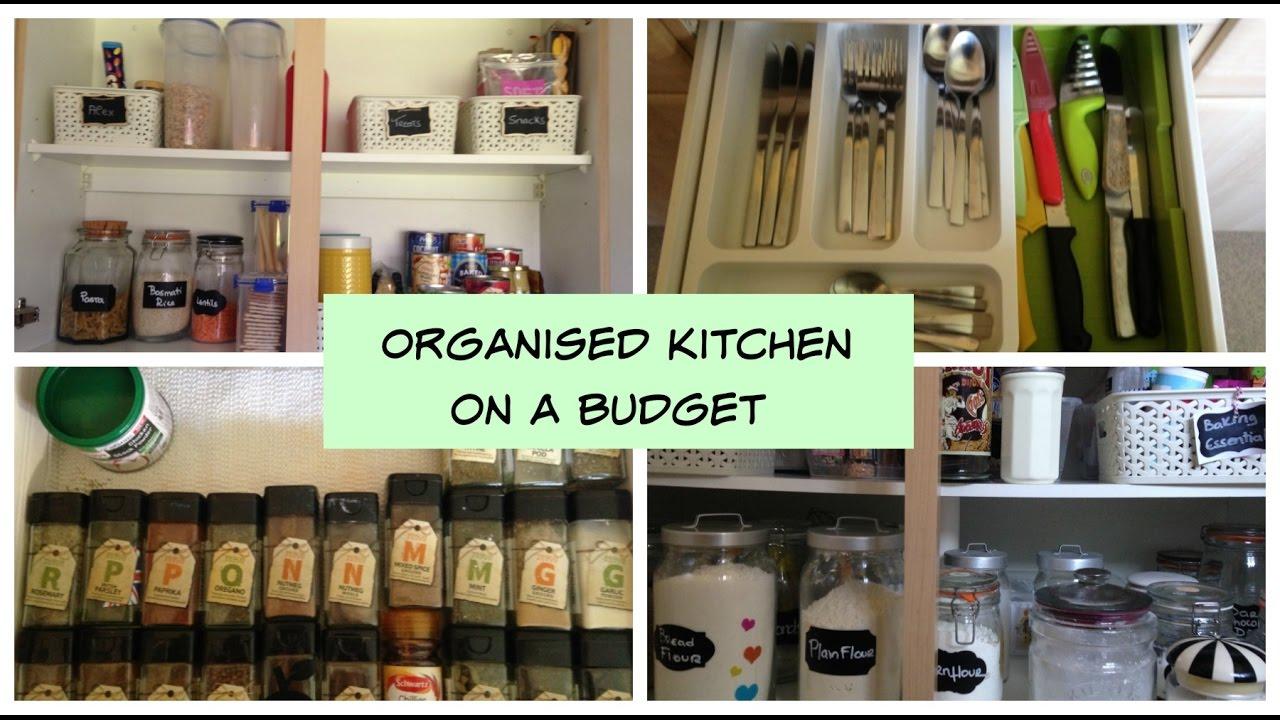 Kitchen Organisation Kitchen Organisation On A Budget 2017 Youtube