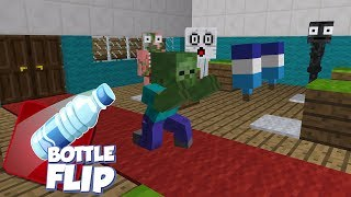 Monster School: Bottle Flip Challenge - Minecraft Animation