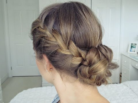 Simple & Easy Bohemian Braid Updo Hair Tutorial