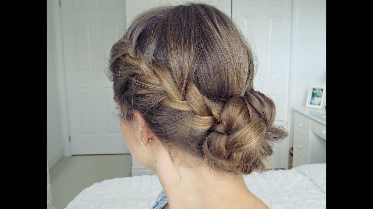 bohemian braid updo | hair tutorial - simple & easy