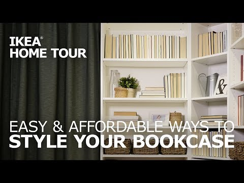 How to Style a Bookcase - IKEA Home Tour