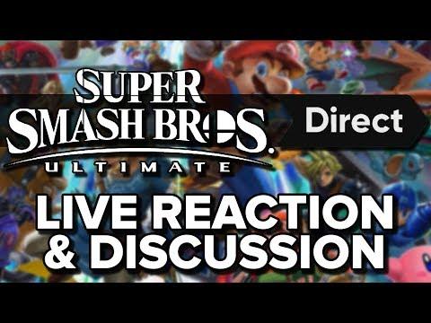 Smash Bros Ultimate NINTENDO Direct LIVE REACTION!
