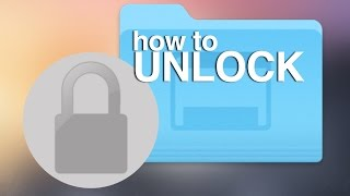 How to Unlock files on Mac Yosemite OSX unlock documents, unlock zip file