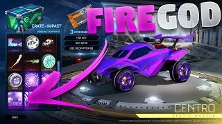 New 'Fire God' Mystery Decal Showcase (Impact Crate Showcase On Rocket League)