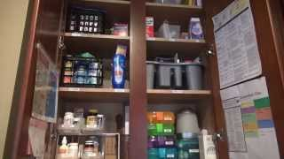 Family Medicine Cabinet | Dollar Tree Organizing!!!
