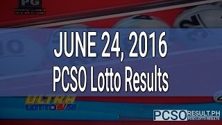 PCSO Lotto Results June 24, 2016 (6/58, 6/45, 4D, Swertres & EZ2)