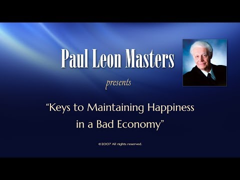 Keys to Maintaining Happiness in a Bad Economy