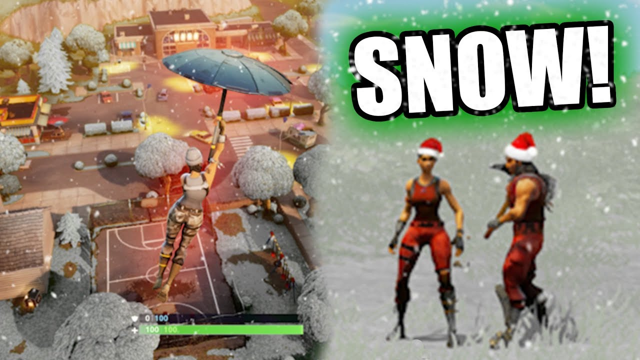 FORTNITE CHRISTMAS UPDATE! *SNOW MAP!*