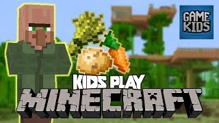 Millie, Geoff, And Griffon Play Minecraft Part 4 - Kids Play