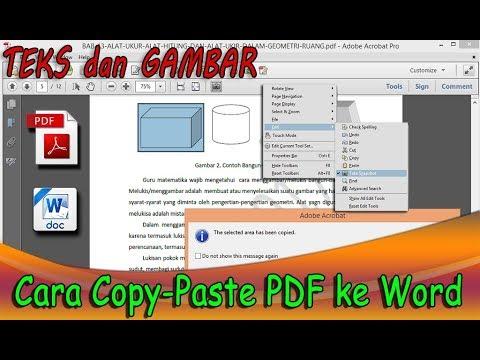 Cara Copy Paste Pdf Ke Word Teks Dan Gambar Youtube