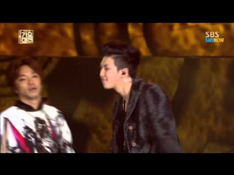 "Gayo Daejun 2013 ""HipHop Stage"" Zico-baro-bang Yong Guk -rap Monster MFBTY"