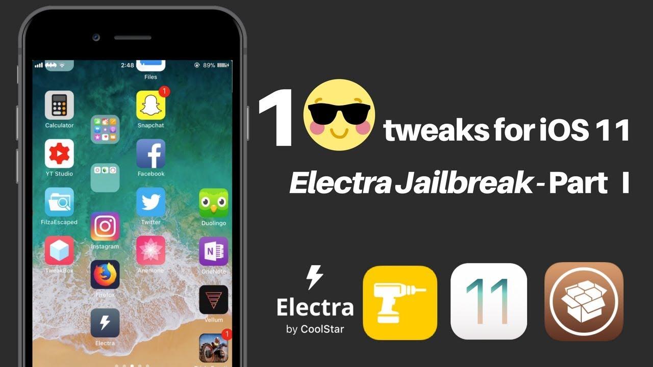 Top iOS 11 Jailbreak Tweaks With Download Links - Part I - Electra Jailbreak