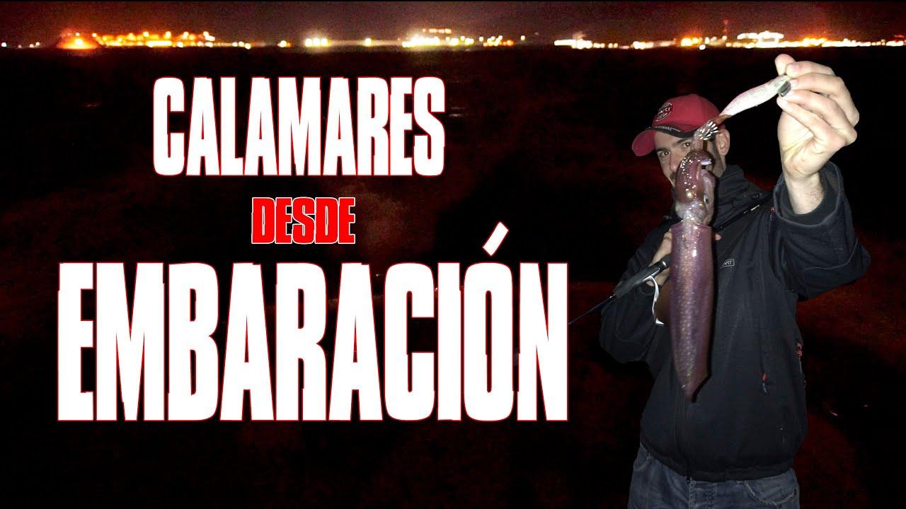 PESCA de CALAMARES desde 🛥 EMBARCACIÓN / Calamares a mano y caña