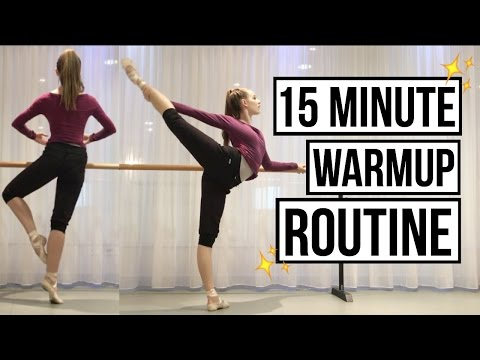 15 minute Ballet Warmup Routine (follow along) | Talia