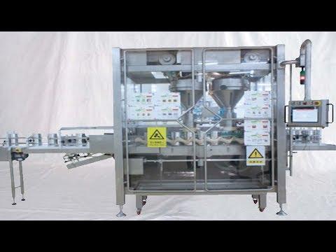 Milk Powder Filling Seaming Plastic Cover Press Capping Tins Pack Carton Packaging Solut