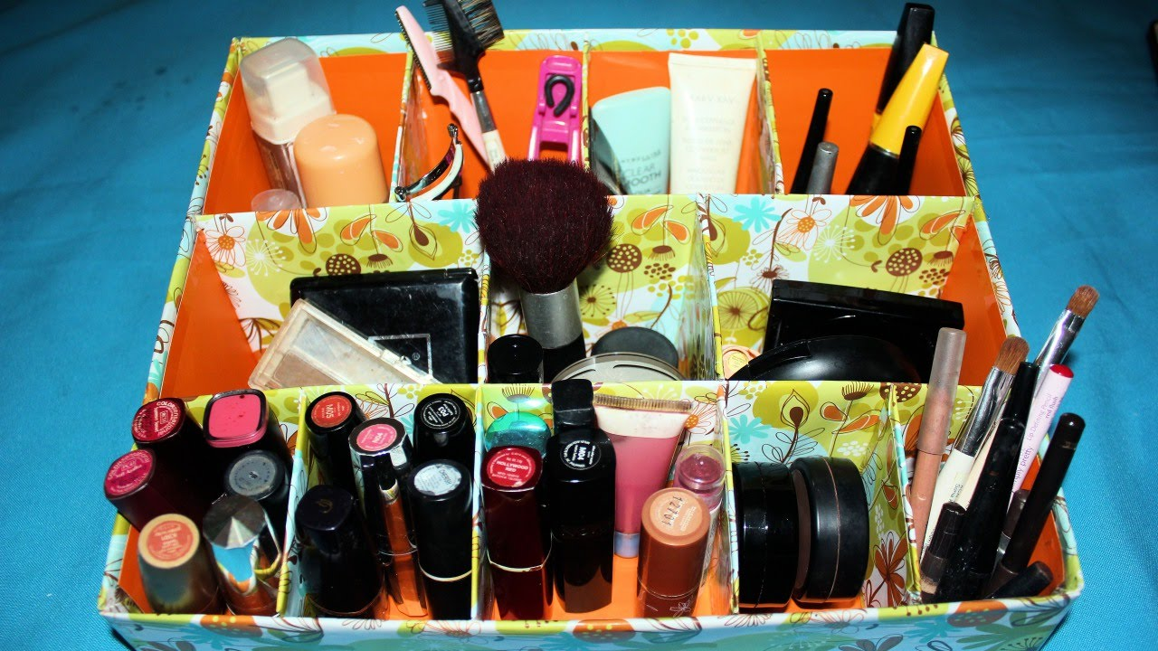 incredible How To Make A Makeup Organizer At Home Part - 5: How To Create an Easy Cardboard Makeup Organizer - DIY Home Tutorial -  Guidecentral - YouTube