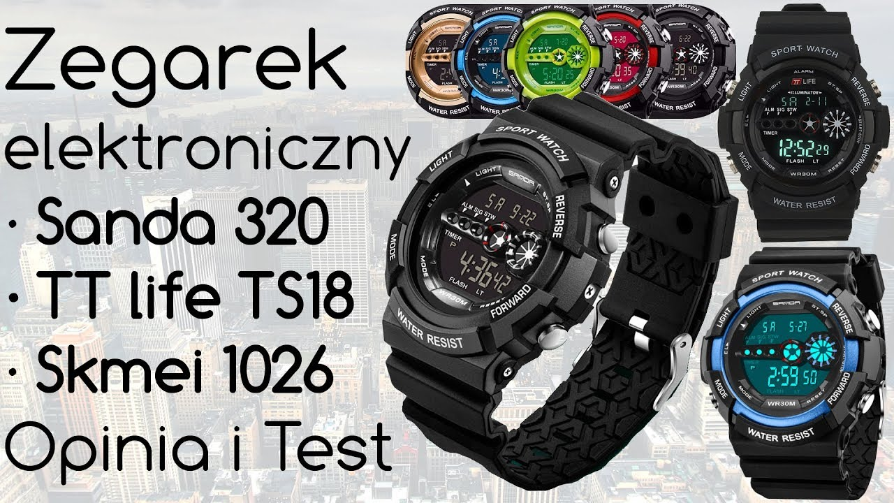 cf524445ed28ae Electronic watch Sanda 320 and Skmei 1026 and TTlife TS18 - Review and Test