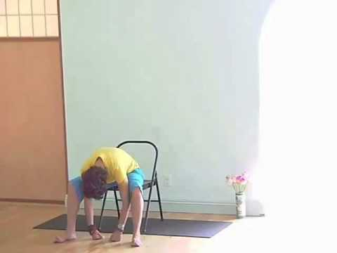 chair yoga series stretching the back 5 of 9  youtube