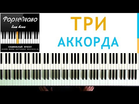 🎹 Фортепиано ДЛЯ ВСЕХ. Урок 12 - ТРИ АККОРДА, ЦЫГАНОЧКА, ЧАСТУШКА, ДЖЕНТЕЛЬМЕНЫ УДАЧИ
