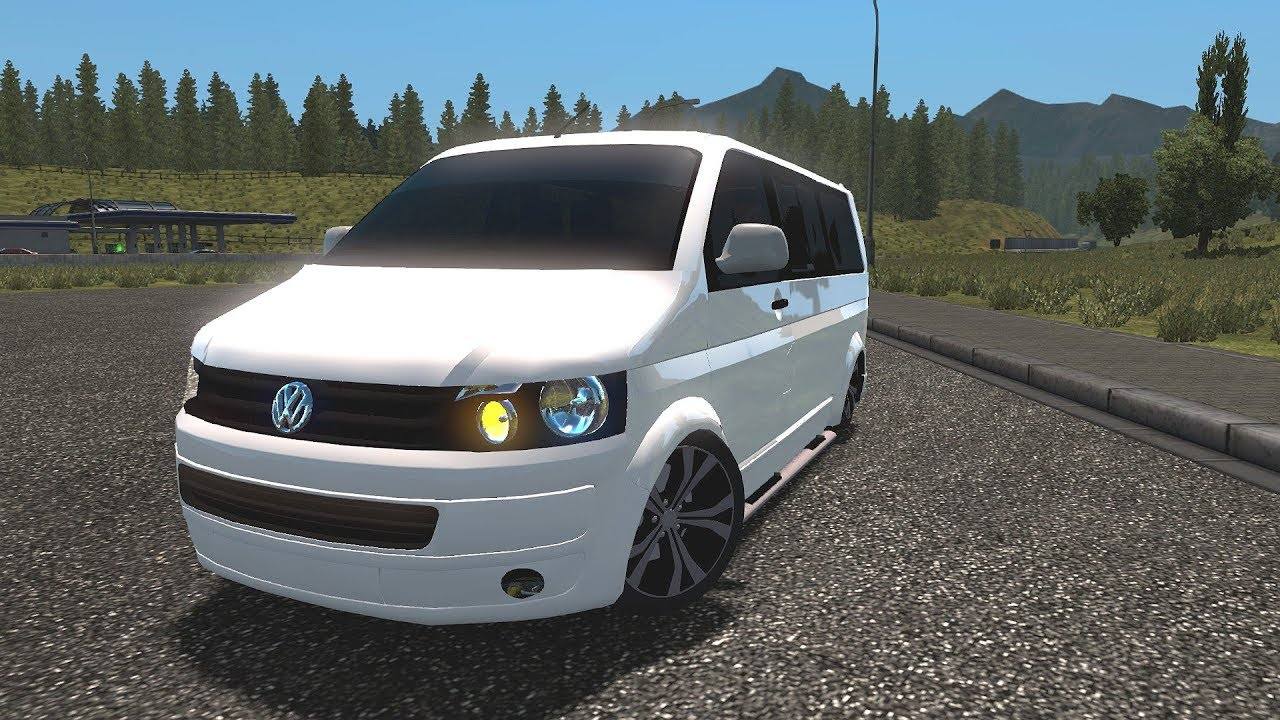 ets2 vw t5 transporter multivan euro truck simulator. Black Bedroom Furniture Sets. Home Design Ideas