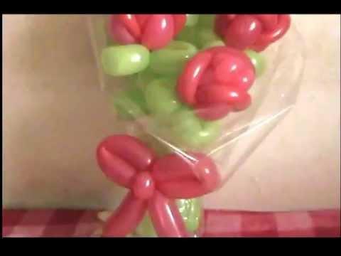 Globos Ramo De Rosas Balloons Bouquet Of Roses Youtube