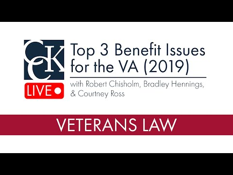 2019 Benefits Issues for the Dept  of Veterans Affairs (VA