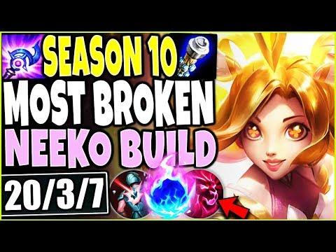 MOST BROKEN NEEKO SEASON 10 BUILD 🔥 EASIEST ONE SHOTS EVER 🔥 LOL TOP Neeko S10 League Of Legends