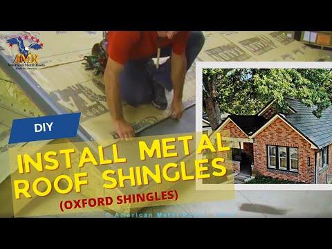 DIY - How To Install Metal Roof Shingles (Oxford Shingles) - American Metal Roofs