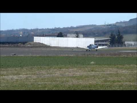 Various plane take off at Clermont Ferrand Auvergne airport