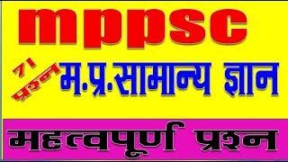 important gk   MPPSC - General Knowledge - MCQ GK Quiz GK FO ALL EXAM
